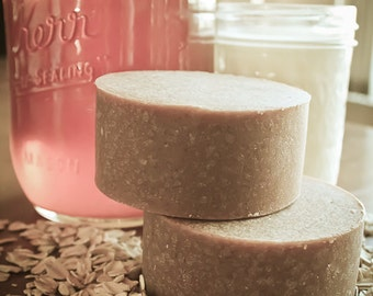 All-Natural Oatmeal, Goat's Milk and Honey Soap - No Fragrance Added