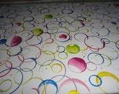 Metallic Rainbow Bubbles Circles - Acrylic Ink 16 x 20