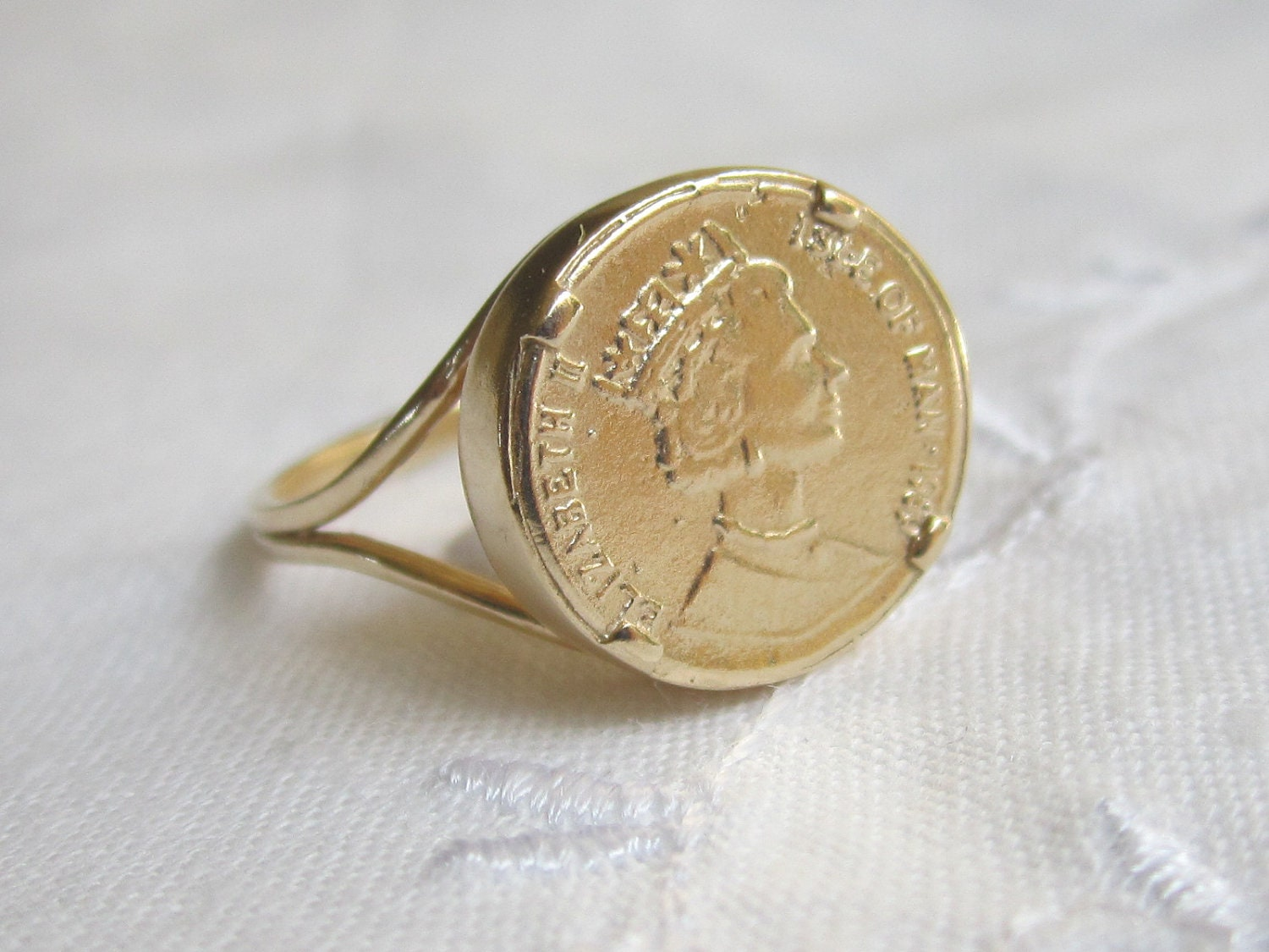 Gold Coin Rings For Sale