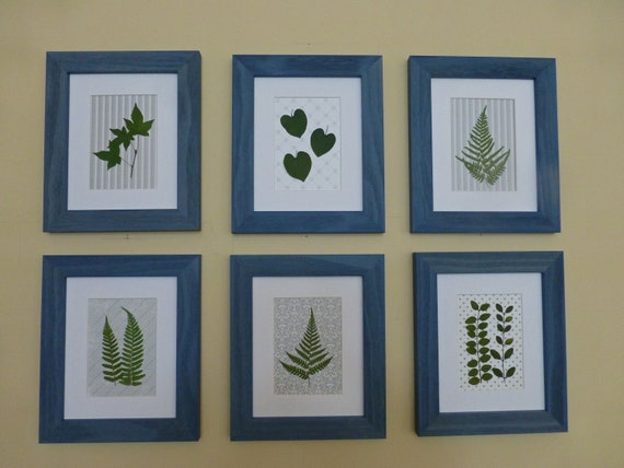 Woodland Botanical Collection, Set of 6, Qty. Discount, Free Shipping. Country Cottage Art, Shabby Chic Art