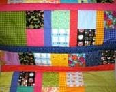 Bright Girl Baby Stroller Blanket Quilt - OOAK
