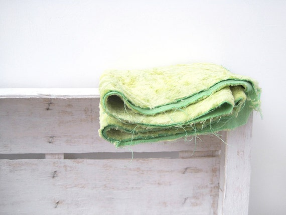 Vintage Lime color Plush (viscose) for making aged teddy bears