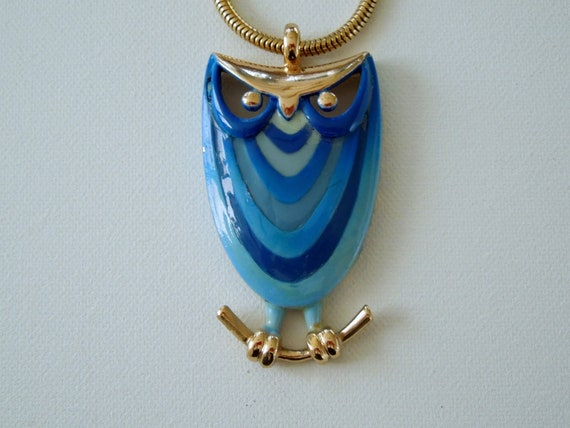 Eisenberg Owl Pendant & Earrings