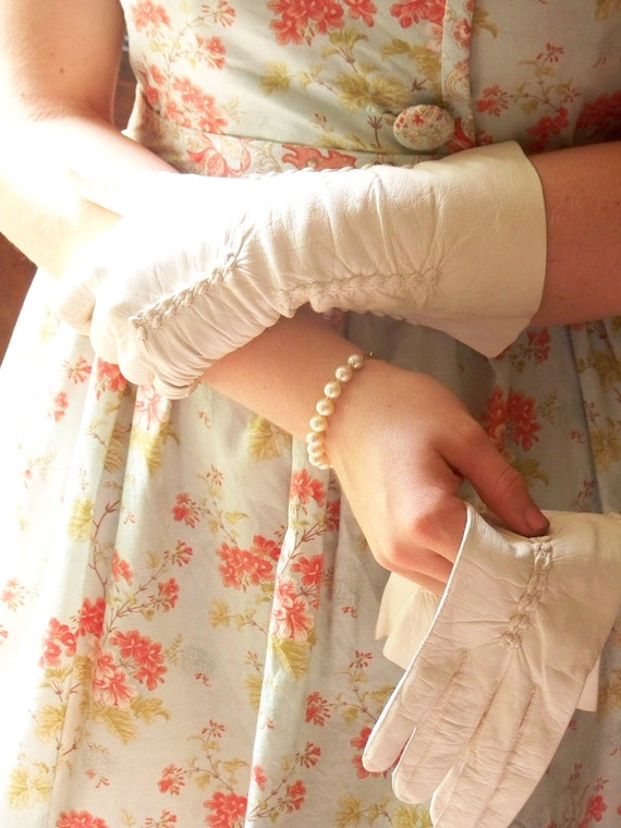 Vintage French Leather Gloves Size 7