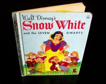 Vintage Golden Book - Walt Disney's Snow White and the Seven Dwarfs - 1960s