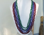 emeralds,rubies and sapphires oh my necklace