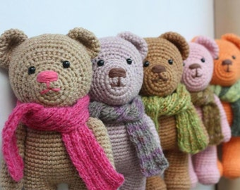 PATTERN- Amigurumi Pattern - Crochet Teddy Bear Pdf Tutorial - DIY - Instant download - Printable -In English