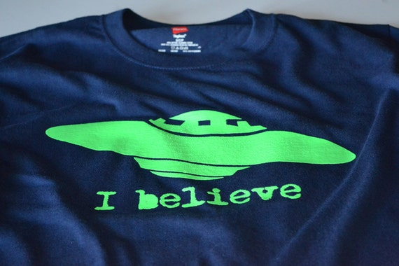 Kids Clothes Youth Kids Shirt UFO tshirt Space Alien shirts I Believe neon UFO Space T shirt for Boys and Girls