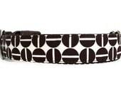 Cute Geometric Chocolate Coffee Brown Dog Collar - Java