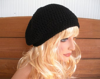 Womens Hat Crochet Hat Winter Fashion Accessories Women Slouchy Hat Winter Beanie Hat in Black - Choose color