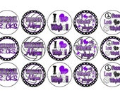 I Love Volleyball PURPLE Bottle Cap Images 4x6 Printable Bottlecap Collage INSTANT DOWNLOAD