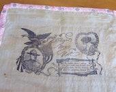 WWI Handkerchief Military Memorabilia Collectible Silk Hanky 1910's era