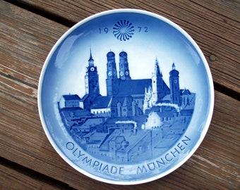 1972 Olympic Games Plate Olympiade Munchen Royal Copenhagen
