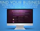 Wordpress Website -Facebook Page - Etsy shop design - Business card design - custom website and blog