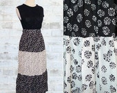 Vintage 80's Rosette Print Calico Style Skirt XS or S