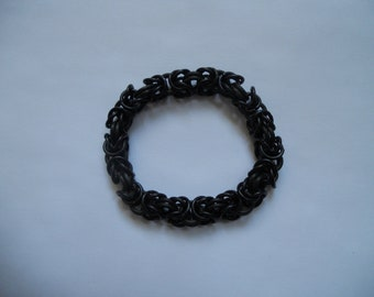 Black Byzantine chain mail bracelet