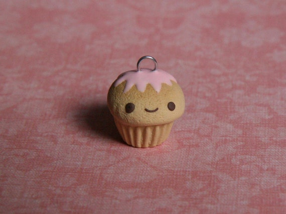 Discounted Pink Iced Cupcake Clay Charm
