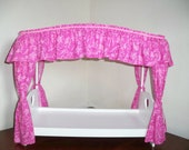 Canopy Top Cover for American Girl Doll Size Beds