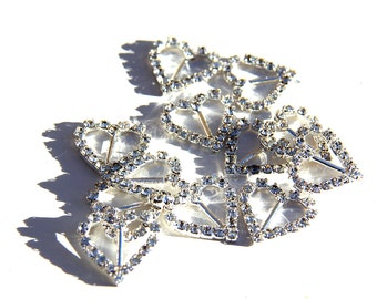 "144pcs Rhinestone Crystal 3/8"" Ribbon Buckle Slider for Invitations and Craft"