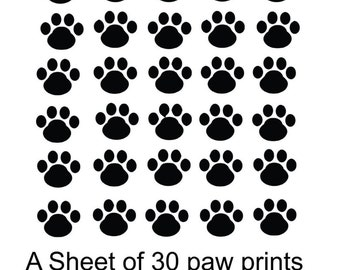 Paw prints - Decals