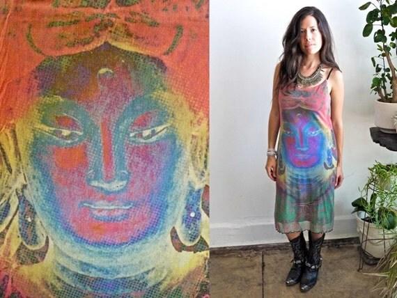 RESERVED......90s Cosmic Shiva Mesh Dress