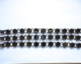 100 Gunmetal Plated Disk and Loop Bracelets with Glueable Pads