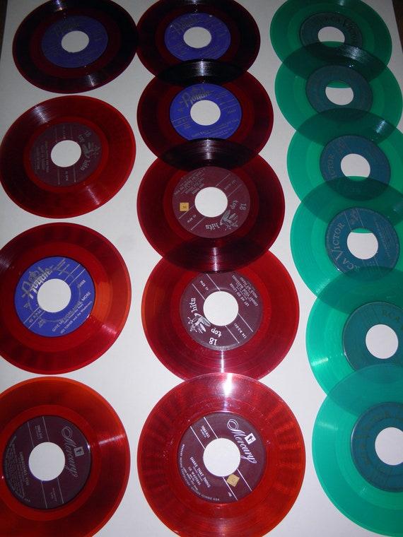 "15 7"" Colored Vinyl Records"