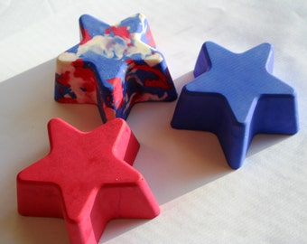Chunky Star Sidewalk Chalk - Set of 3 - Great for 4th of July or Gymnastics Party