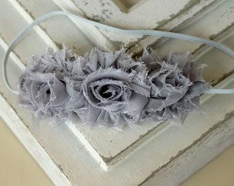 Grey flower headband, grey baby headband, flower headband