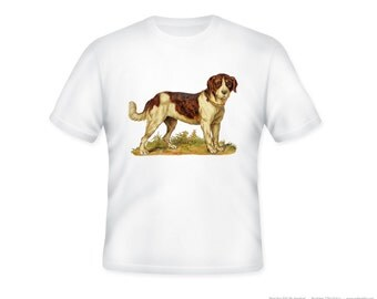 St. Bernard Dog Illustration Adult T-Shirt, Sizes S-5XL