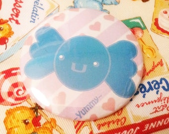 yummy blueberry candy 2.25 inch pinback button