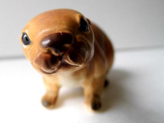 Vintage Knick Knack Seal Pup, Numbered Ceramic Animal Figurine for Knick Knacks Shelf, ADORABLE