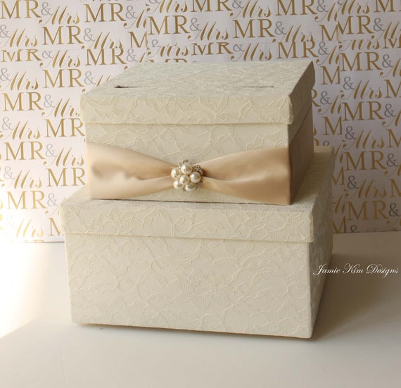 Laced Wedding Card Box, Money Box, Money Card  Holder