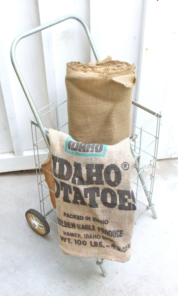 Vintage Metal Personal Shopping Cart - Rolls and Folds Flat