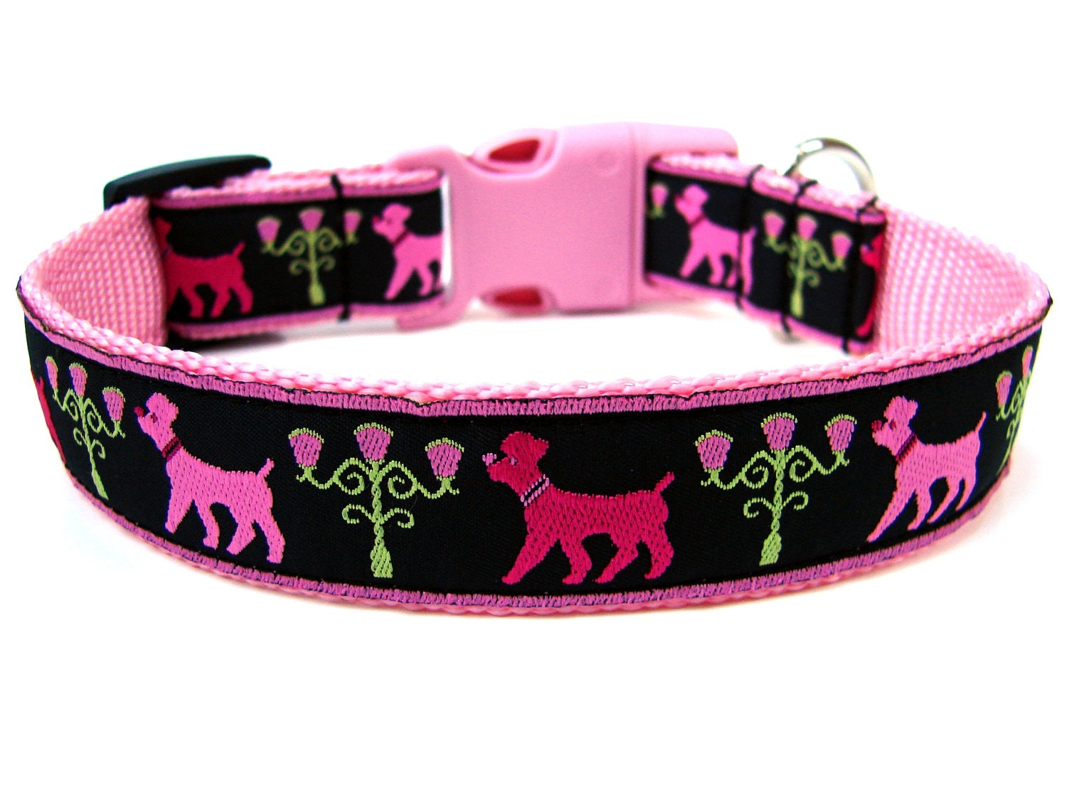 Pink And Black Small Dog Collars