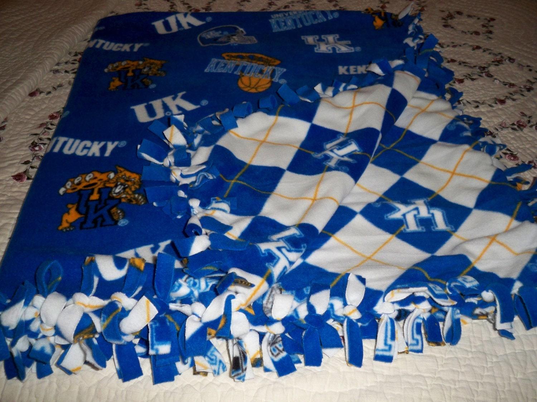 Kentucky Wildcats Fleece Tie Blanket Reversible