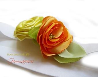 Yellow Elastic Flower Headband for Babies or Girls
