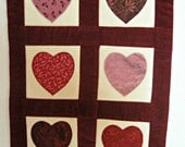 Heart Quilted Wall Hanging