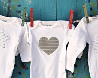 Personalized Baby Shower Keepsake, Hand-Embroidered Bodysuit, One Piece, Notebook Paper Custom Fabric, Size, Shape, Thread, MADE-TO-ORDER
