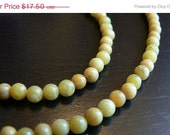 HalfOff Fall Jewelry Sale Olive Jade Necklace Bracelet Set Yellow Green Stone Rounds