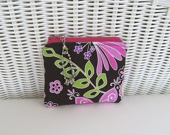 READY-TO-SHIP Boho Orchid Coin Purse / Change Purse / Womens Purse