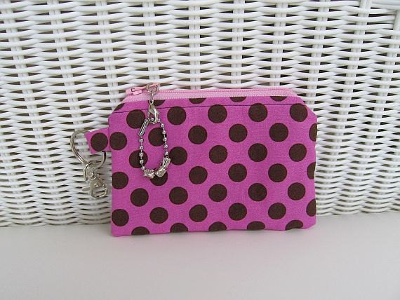 READY-TO-SHIP Pink Coin Purse / Pink Change Purse / Womens Change Purse