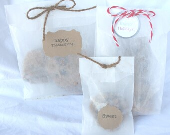 60GLaSSiNe BaGs-combo pack-small, large, and gusseted-wax lined-translucent-bakery bags-Party Favors--Gift Wrapping--Crafts--50ct