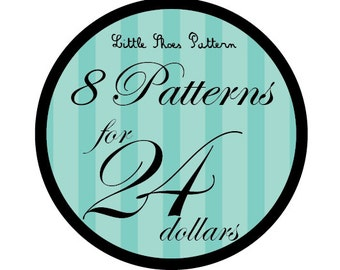 Great Deal - Buy 8 PDF Baby Shoes Pattens for 24 Dollars