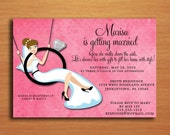 Engagement Ring Swing Bridal Shower Customized Printable Invitations /  DIY