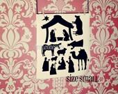 Small Vinyl Nativity - Vinyl Wall Art