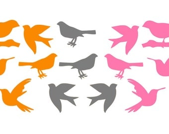 Birds - Set of 15 - Vinyl Wall Art