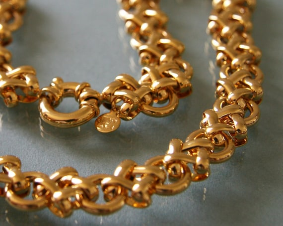 Heavy Chunky Gold Chain Necklace -:- Fancy Links