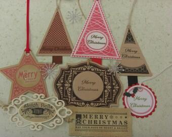 Christmas Gift Tags Mixed Set of 8
