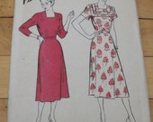 FREE SHIP 1941 Hollywood Pattern - 752 - Dress - Size 16, Bust 34